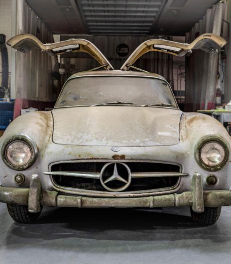 Mercedes die 60 jaar in stoffige garage staat, blijkt meer dan miljoen euro waard