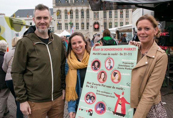 """""""Met BV's gaan we voor extra beleving en plezier zorgen op de wekelijkse markt"""", klinkt het bij marktleider Filip Boschman en schepenen Marijke Henne en Ine Somers."""