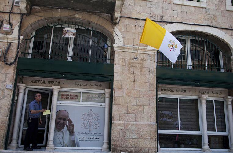 De oude stad van Jeruzalem maakt zich op voor het bezoek van paus Franciscus. Beeld GETTY