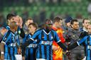 Internazionale viert de 2-0 overwinning uit de heenwedstrijd.