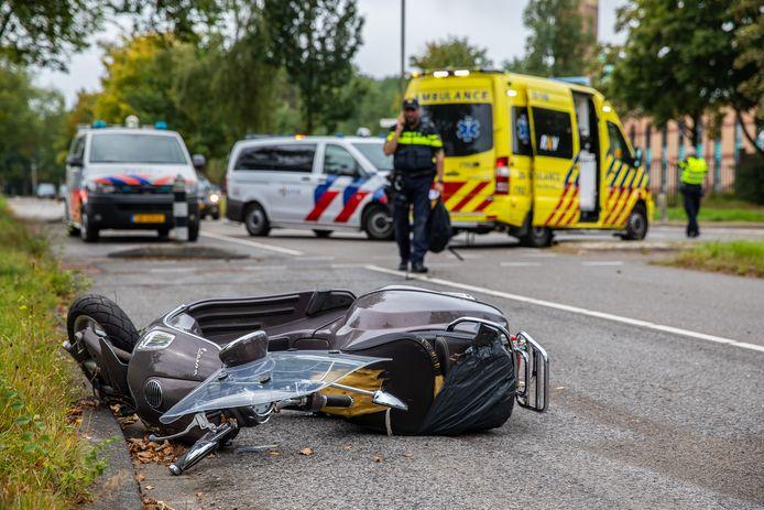 De bestuurder raakte gewond.