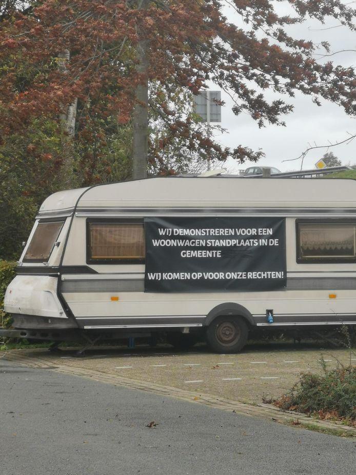 De activist bivakkeert sinds begin november voor een standplaats in Leusden.