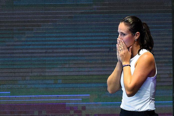 Daria Kasatkina na haar overwinning.