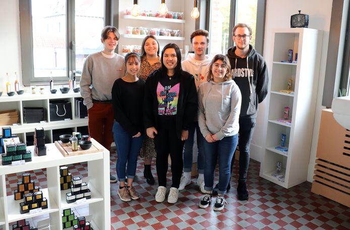 De leerlingen van de leeronderneming ZWET van het Berchsmanscollege in Mol.
