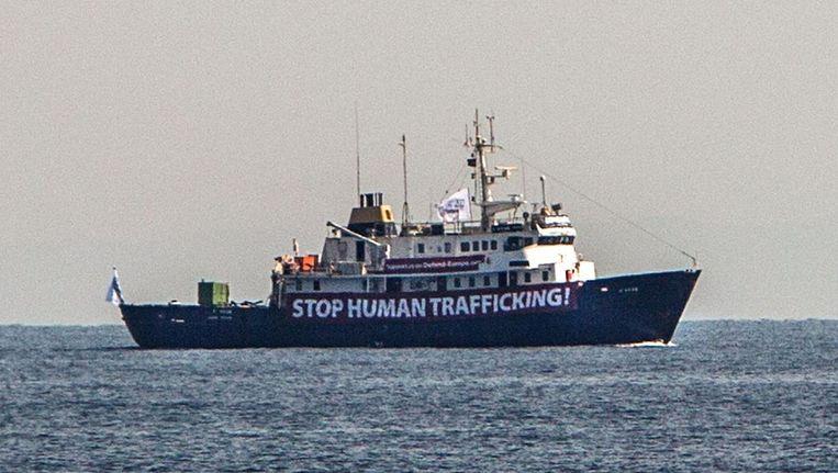 Het schip van Defend Europe Beeld afp