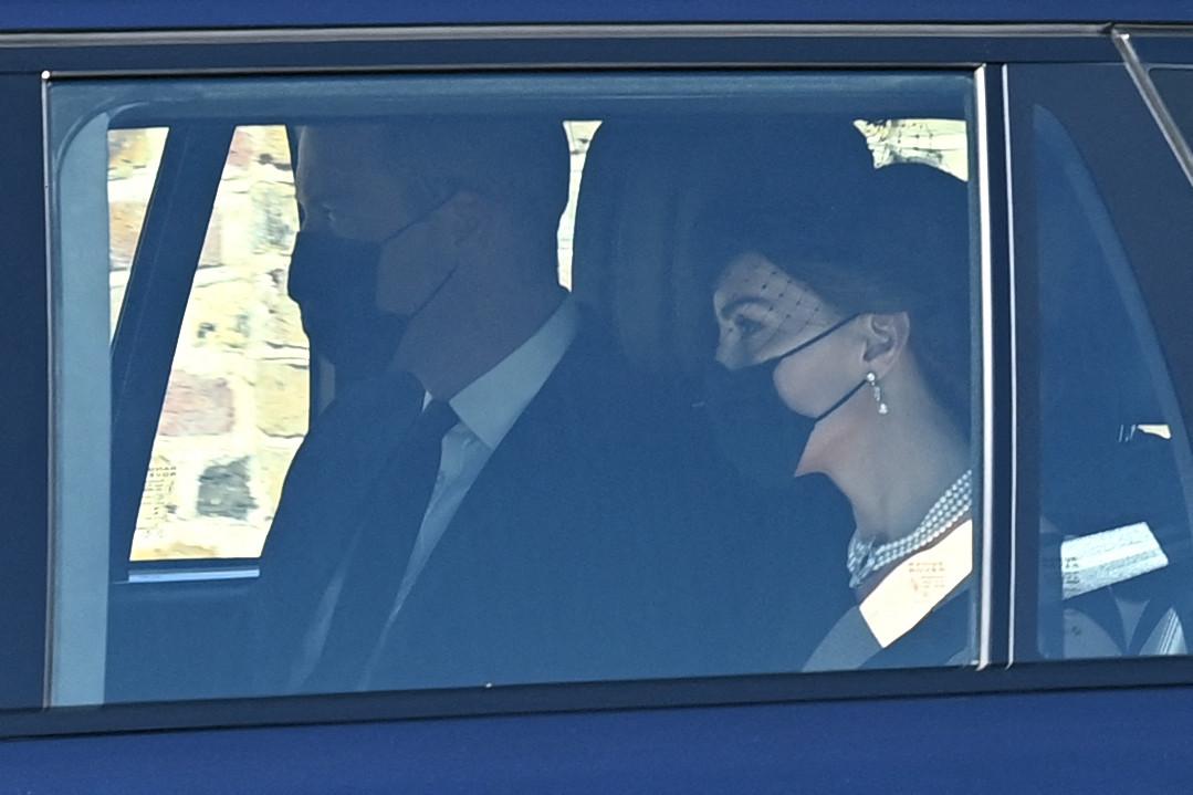 William et Kate à leur arrivée au château de Windsor.