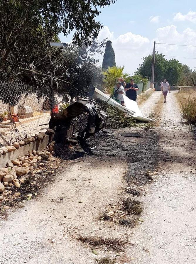 De brandweer van Mallorca heeft een foto vrijgegeven na het incident.