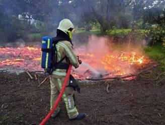 Buitenbrand in Vuystermansstraat en (beperkte) wateroverlast in de regio