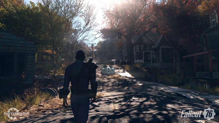 De wereld na de bom van 'Fallout 76' doorkruis je voor het eerst niet alleen. Beeld Bethesda