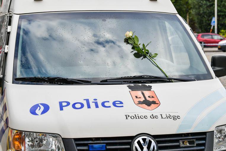 Het politiekorps van Luik. Beeld Joel Hoylaerts / Photo News