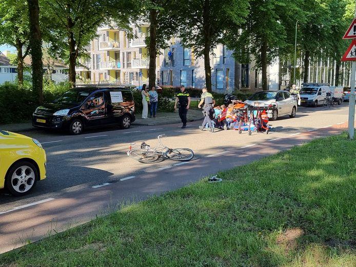 De scholier raakte zwaargewond bij een ongeluk met een auto op de Hollandseweg in Wageningen