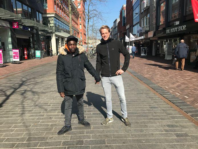 Prince Mboup (19) en Martijn Bloemen (18) beiden uit Breda.