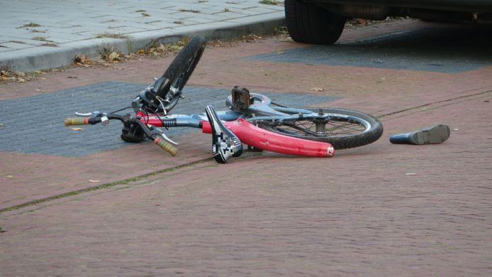 Het fietsje waarop het kind reed.