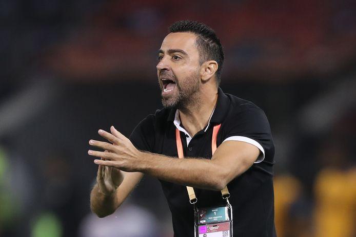 Xavi als trainer van Al-Sadd.