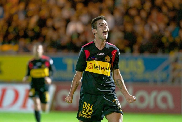 Sergio Oliveira na een goal voor KV Mechelen.
