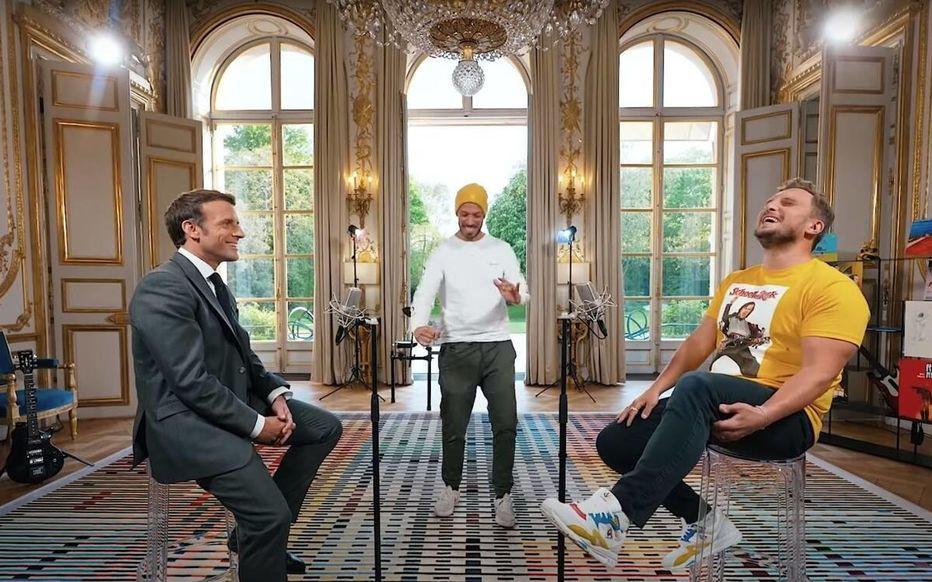 Emmanuel Macron et les Youtubeurs McFly et Carlito
