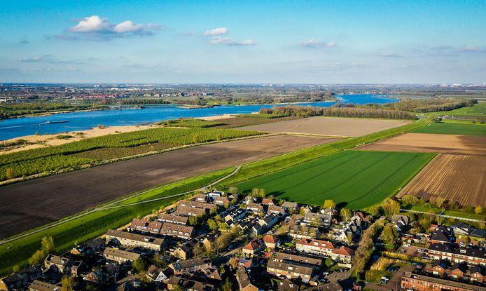 De akkers in Heinenoord, waar het zonnepark moet komen.