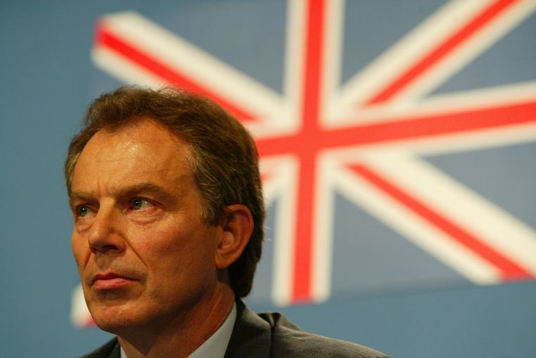 Tony Blair, destijds Brits premier, in 2003. Beeld Peter Macdiarmid/Getty Images
