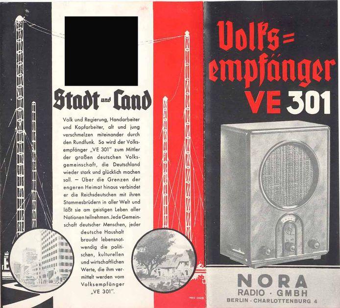 Poster voor een Volksempfänger, een radio gemaakt in opdracht van het Nazi-regime.