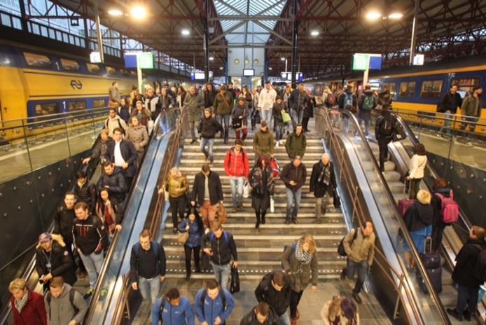 De ochtendspits op station Eindhoven