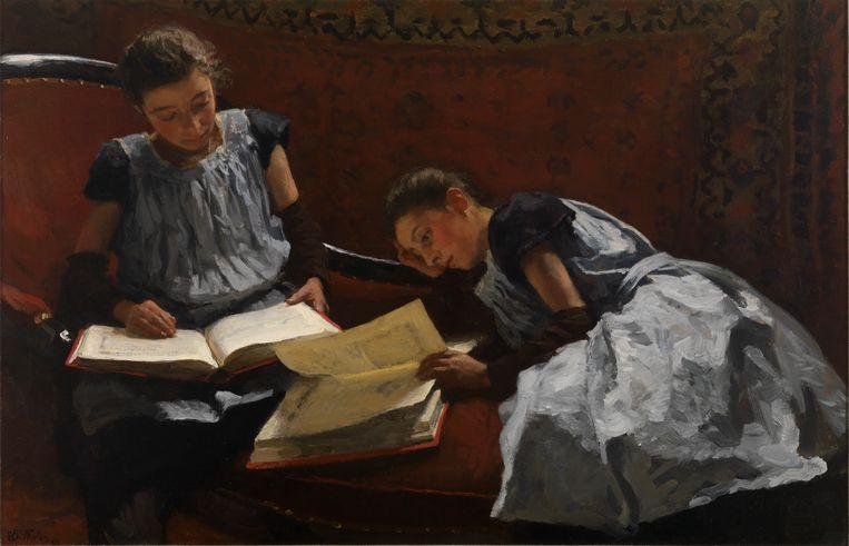 De gezusters van Willem Bastiaan Tholen (1893). Beeld Collectie Museum Gouda
