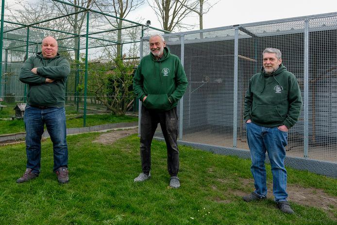 John Acke, Marc Vande Voorde en Franky Van Aken van VOC Malderen.