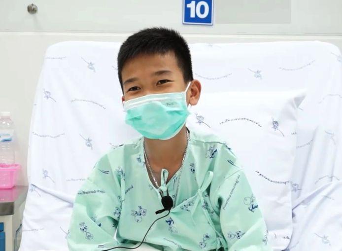 Chanin 'Titan' Vibulrungruang in het ziekenhuis.