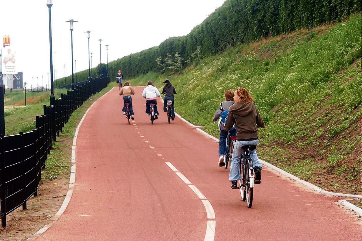 Een snelfietsroute door Amersfoort.