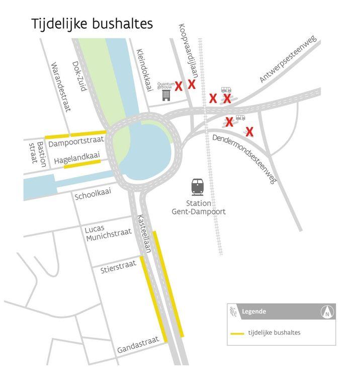 Zo ziet de nieuwe verkeerssituatie aan Dampoort er uit.