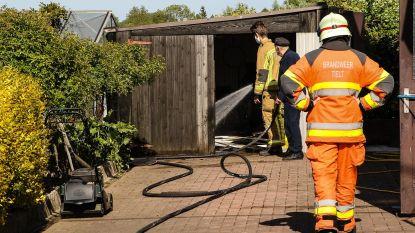 Garage vat vuur na tuinonderhoud bij 93-jarige in Tielt