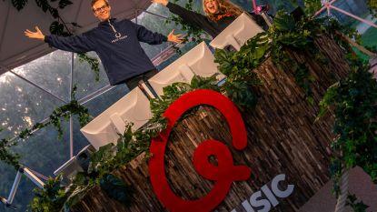 Jonas Van Geel en Jelle Cleymans wijden de Q-Bubble in Maria Hendrikapark in