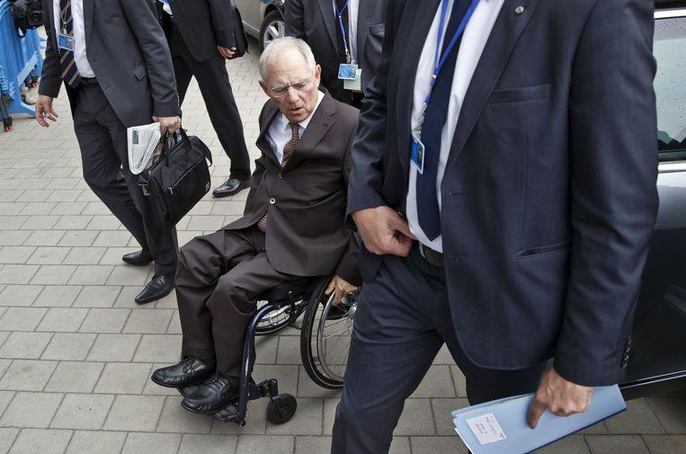 Wolfgang Schäuble, aanvoerder van de harde lijn. Beeld AP
