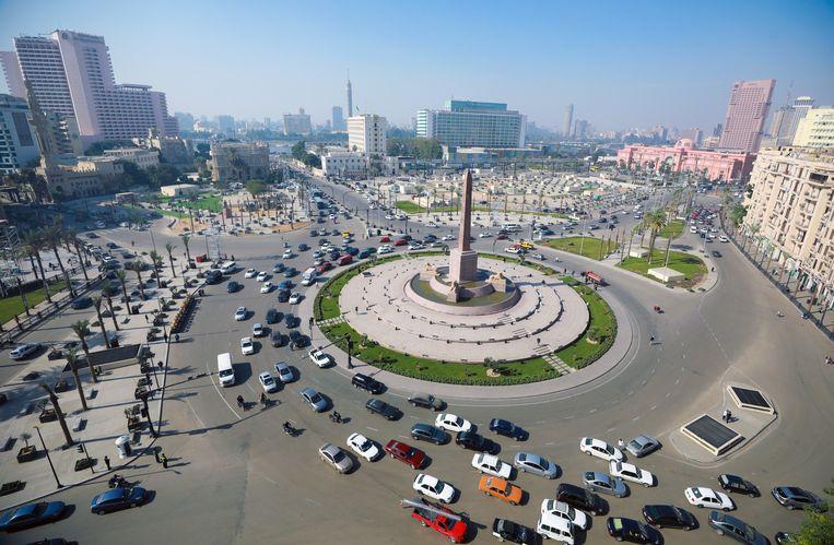 Het Tahrirplein in Cairo, nu.  Beeld EPA