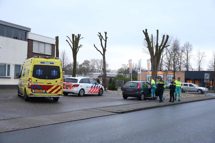 Hulpdiensten aanwezig bij het ongeval