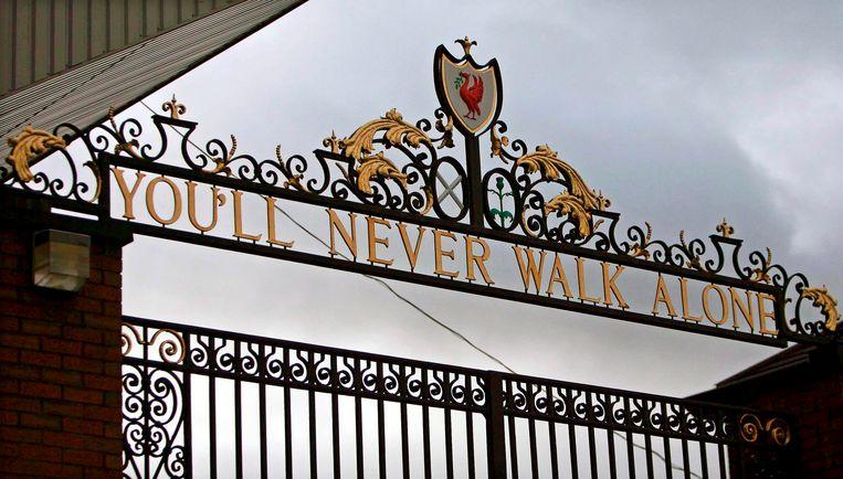 De poort van het Liverpool-stadion. Beeld EPA