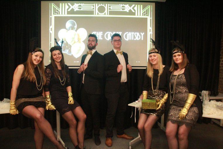 Studenten eventmanagement Jamie Taffeiren, Matthias Delecluyse,  Najomie Maene, Amber Beernaert, Lotte Gruyaert en Chloé Verolleman.