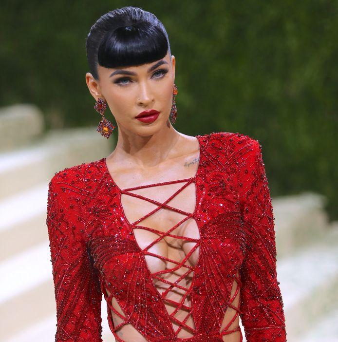 Megan Fox bij het Met Gala, vorige week.
