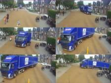 'Zweethandjes' bij bevoorrading van Aldi door 18 meter lange vrachtwagen in Baarn: 'Dit is te gevaarlijk'