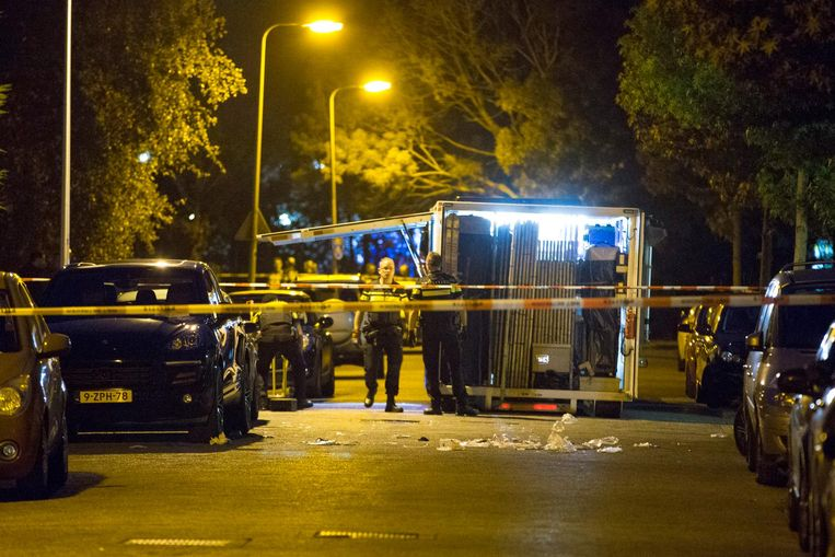 Politieonderzoek in Diemen, waar Vincent Jalink in mei werd geliquideerd. Beeld anp