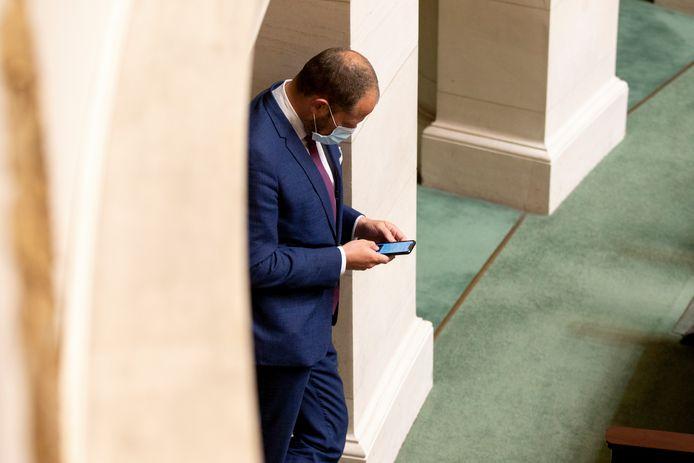 Theo Francken vandaag in de Kamer.