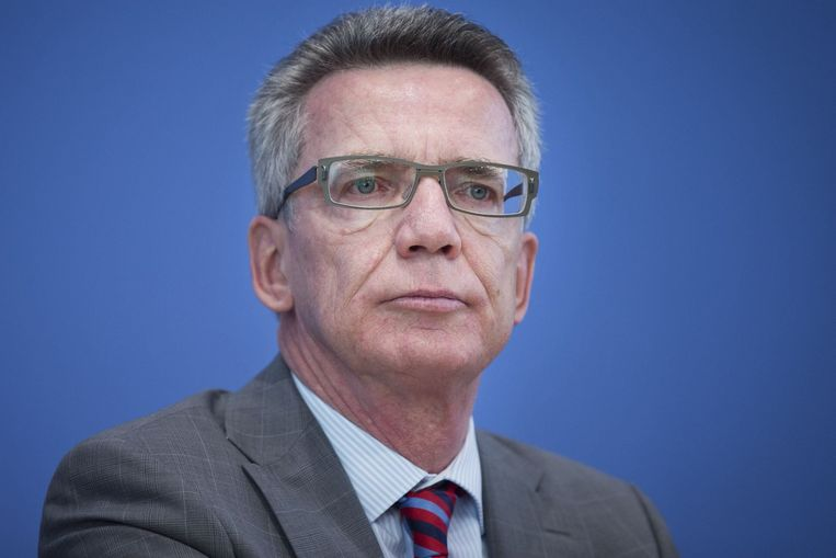 De Duitse minister van Binnenlandse Zaken Thomas de Maizière.