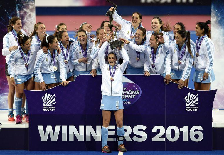 Argentijnen vieren overwinning. Beeld reuters