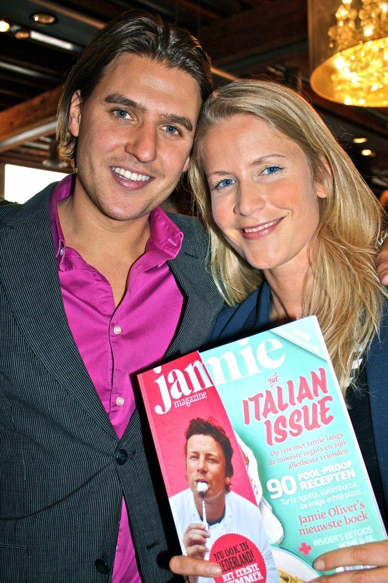 Jakob Krabbe met zijn vriendin Gerdien ten Cate: 'Jakob kookt als geen ander.'<br /> Beeld