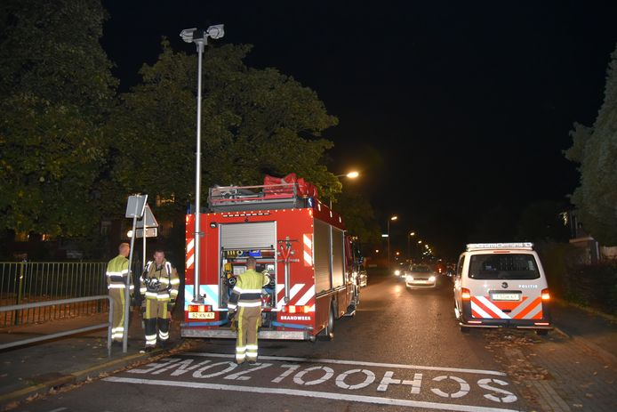 In een container op het schoolplein van Het Octaaf in Nijmegen is dinsdag brand gesticht.