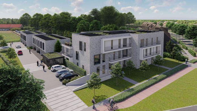 Het nieuwe woonproject dat verrijst op de site Den Boomgaerd.