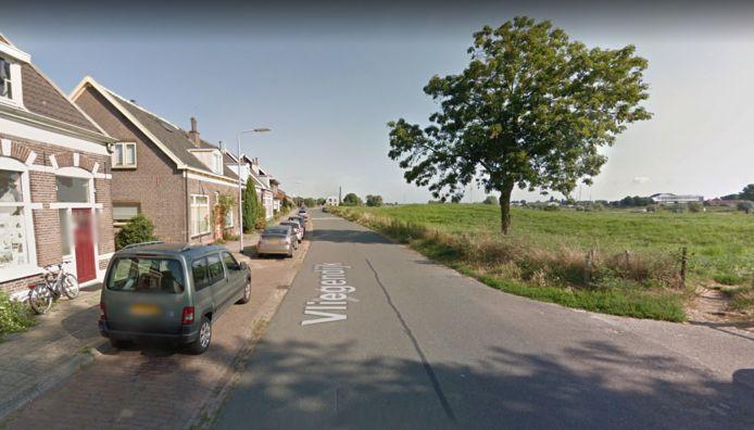 De Vliegendijk bij De Hoven. Hier wordt van 6 tot en met 14 september onderhoud uitgevoerd aan het asfalt.