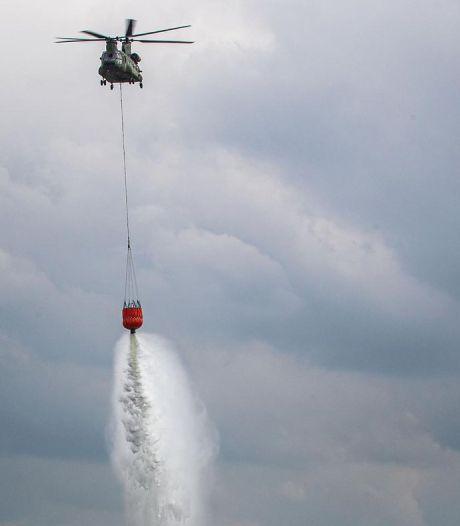 Twee Chinooks van Gilze-Rijen helpen natuurbranden blussen in Albanië
