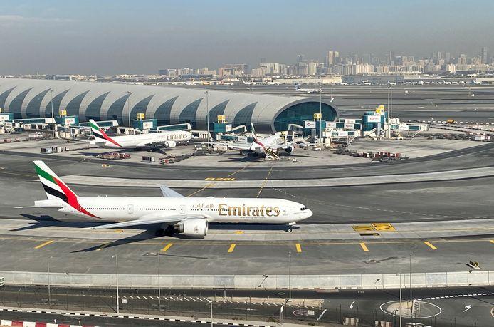 De internationale luchthaven van Dubai in de Verenigde Arabische Emiraten.