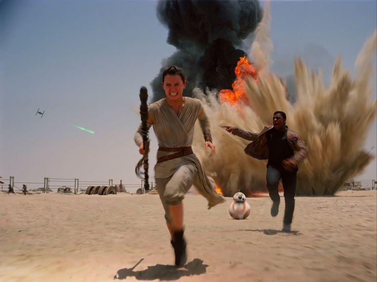 Hoofdpersonage Rey, gespeeld door Daisy Ridley. Beeld AP