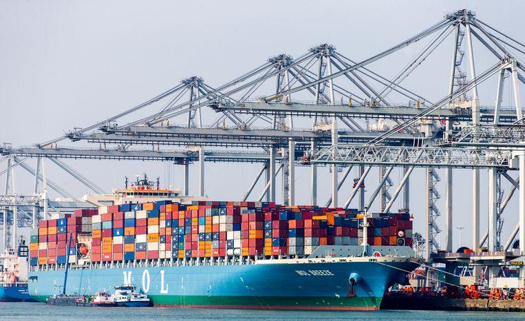 ECT Hanno Terminal, voor containeroverslag op de Maasvlakte in de Rotterdamse haven. Beeld ANP